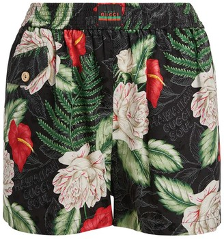 Gucci Silk Hawaiian Print Shorts