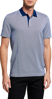 HUGO BOSS Men's Polo Shirt with Contrast Collar