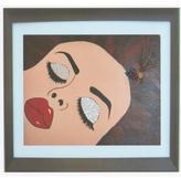 De.De 30 in. x 27 in. Sleeping Beauty Art by Atkins Framed Wall Art