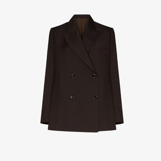 EFTYCHIA double-breasted oversized wool blazer
