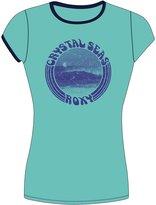 Roxy Womens Sunset - Short Sleeve Rashguard - Women - Xl - Blue Xl