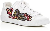 Ash Nak Appliqué Embellished Lace Up Sneakers