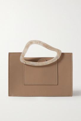 NATURAE SACRA Arp Mini Leather And Resin Tote - Taupe