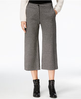Max Mara Cropped Plaid Wide-Leg Trousers