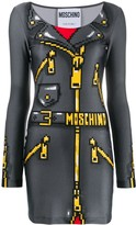 Moschino pixel-effect mini dress
