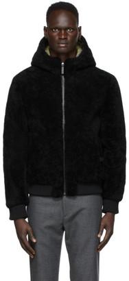 Yves Salomon   Army Yves Salomon - Army Reversible Black Shearling Jacket