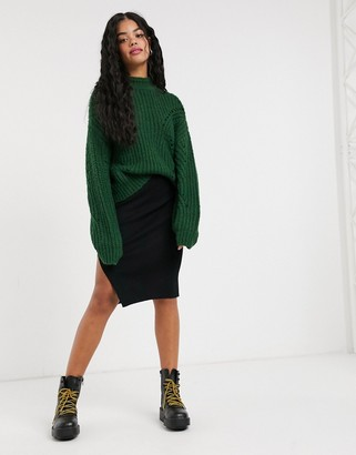 Pimkie jersey pencil skirt in black