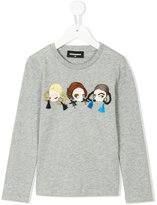 DSQUARED2 long sleeve shirt with doll motif