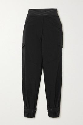 RtA Dallas Cropped Shell Slim-fit Pants - Black