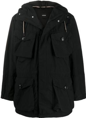 Aspesi Hooded Cargo Jacket