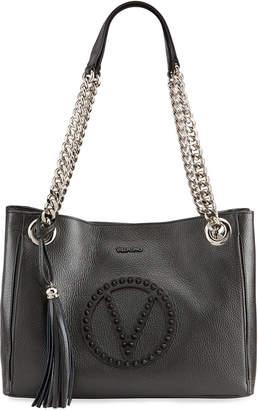 Mario Valentino Valentino By Luisa Rock Dollaro Leather Shoulder Bag