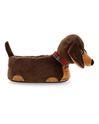 Simply Be Sausage Dog Slippers Wide Fit