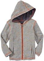 Splendid Textured Solid Hoodie (Toddler/Kid) - Gray-3T