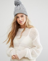 Warehouse Cable Knit Beanie Hat