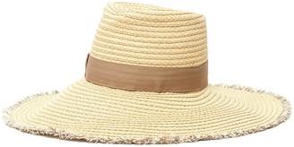 Eric Javits 'Caroline' Grosgrain Band Fringed Fedora Hat