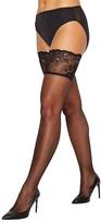 Donna Karan Hosiery Signature Sheer Satin Thigh Highs