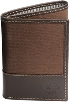 Timberland Baseline Trifold Wallet - Waxed Canvas-Leather (For Men)