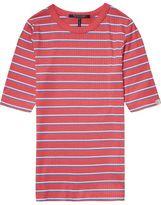 Scotch & Soda Striped Ribbed T-Shirt