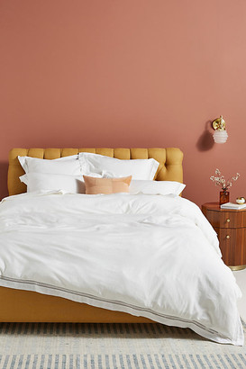 Anthropologie Organic Spa Sateen Duvet Cover By in White Size Ca kng dvt