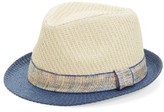 Capelli of New York Infant Straw Trilby - Blue