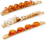 Berry Jewelry Beaded Bobby Pin Set, Topaz