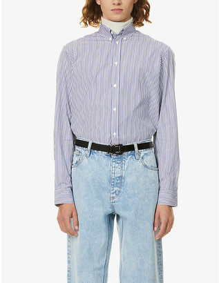 Givenchy Striped boxy-fit cotton-poplin shirt