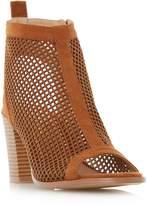 Head Over Heels by Dune JINXX - TAN Perforated Peep Toe Sandal