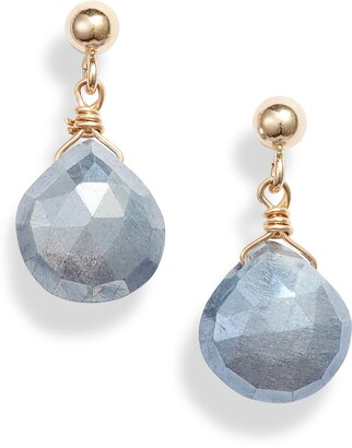 ela rae Semiprecious Stone Drop Earrings