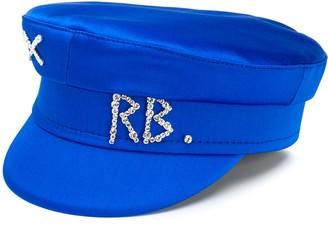 Ruslan Baginskiy Rhinestone Logo Breton Hat