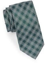 Black Brown 1826 Grid Silk Tie
