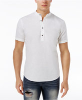 INC International Concepts Men's Linen-Blend Popover Shirt, Only at Macy's