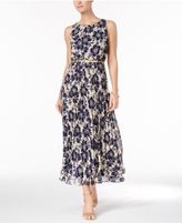 Jessica Howard Petite Chiffon Floral-Print Maxi Dress