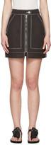 Isabel Marant Black Workwear Denim Demie Miniskirt