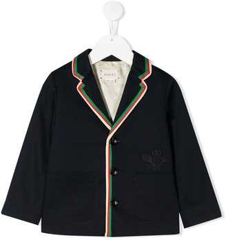 Gucci Kids embroidered Gucci Tennis gabardine jacket