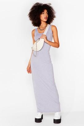 Nasty Gal Womens Bodycon Artist Scoop Neck Maxi Dress - Grey - 8