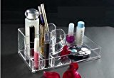 Kes SCO602 Acrylic Cosmetics or Makeup Organizer Clear