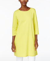 Eileen Fisher Cotton-Blend Jersey Knit Tunic