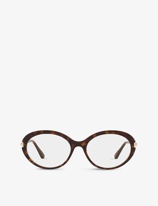 Tom Ford FT5675-B round-frame acetate optical glasses