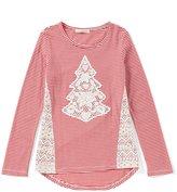 Copper Key Big Girls 7-16 Christmas Crochet Tree Top