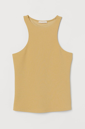 H&M Creped Tank Top - Yellow
