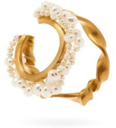 COMPLETEDWORKS Pearl & 14kt Gold-vermeil Ear Cuff - Pearl