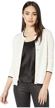 Kate Spade Signature Button Cardigan (Black) Women's Clothing