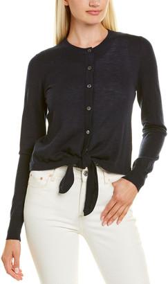 Autumn Cashmere Tie-Front Cashmere Cardigan