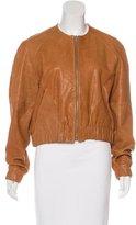 Veda Leather Raglan Sleeve Jacket