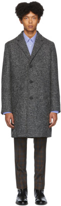 HUGO Grey Wool Malte 1941 Coat