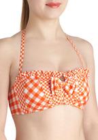 Betsey Johnson Backyard Dip Swimsuit Top