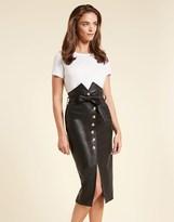 Bardot Tie Waist Midi Skirt