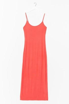 Nasty Gal Womens To the Maxi Plus Slip Dress - Orange - 16