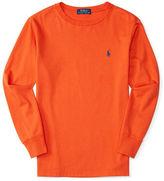 Ralph Lauren Boys 2-7 Solid Long Sleeve T-Shirt