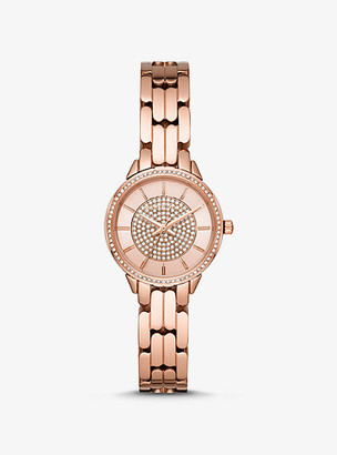 Michael Kors Mini Allie Rose Gold-Tone Watch - Rose Gold